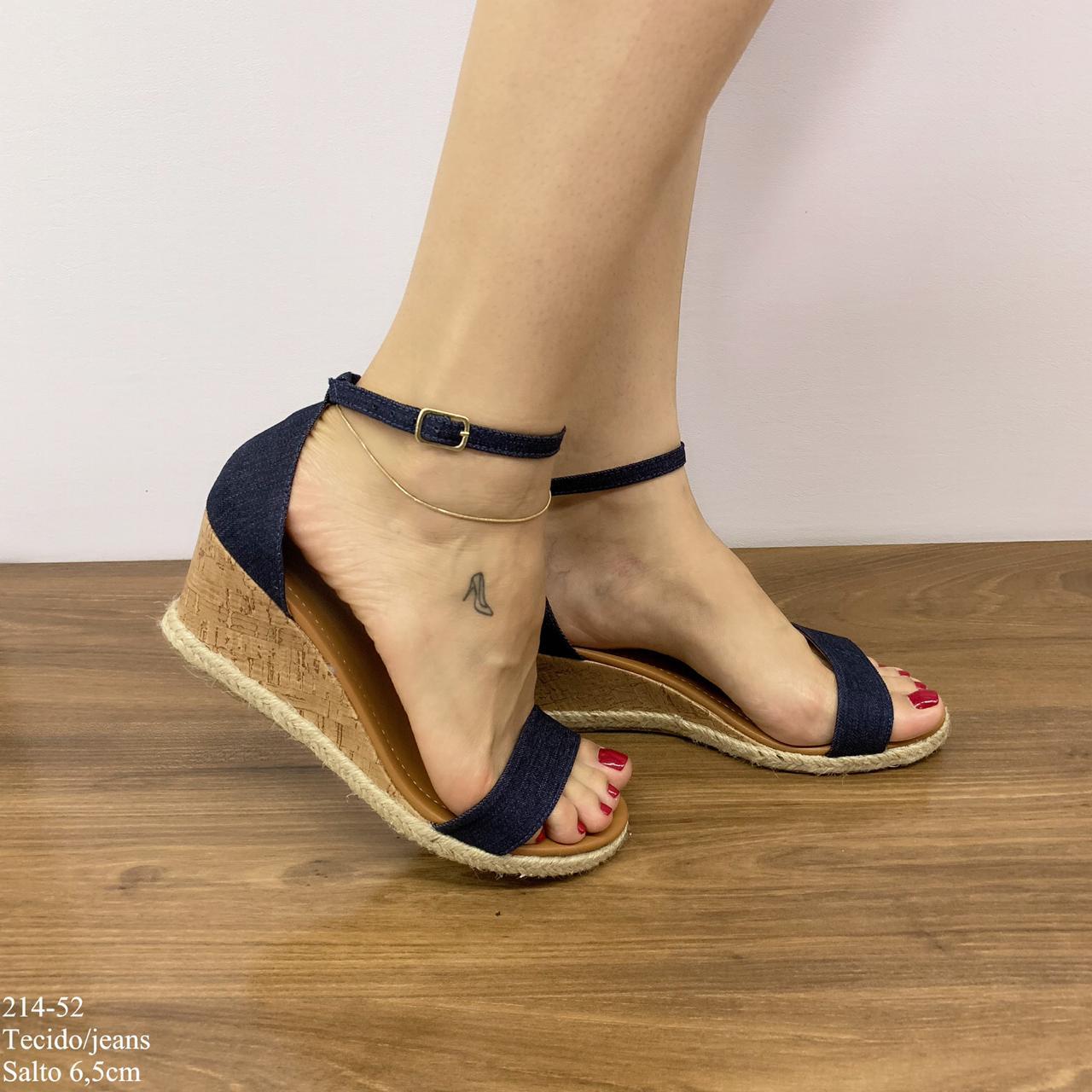 Anabela Feminina Jeans | D-214-52