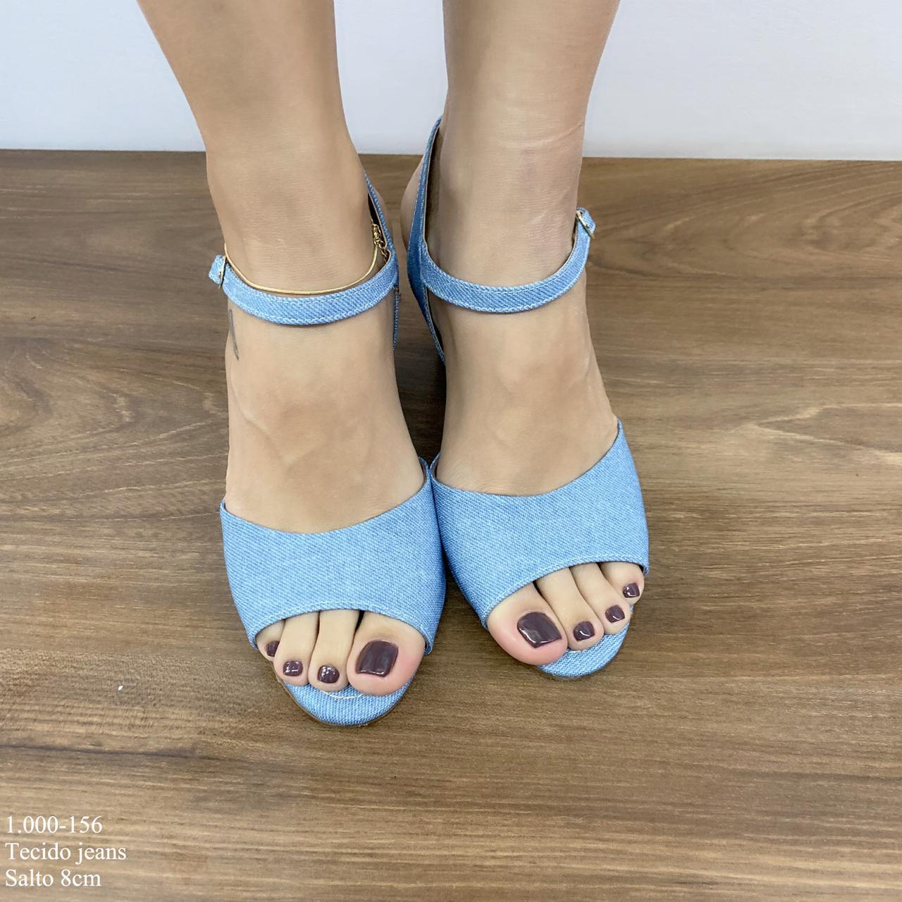 Anabela Tecido Jeans | D-1.000-156