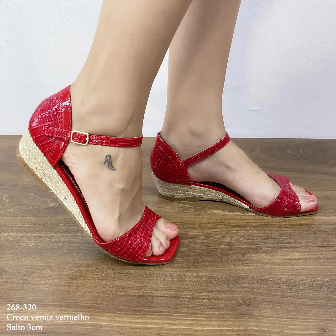 Anabela Vermelha Croco Verniz | D- 268-320