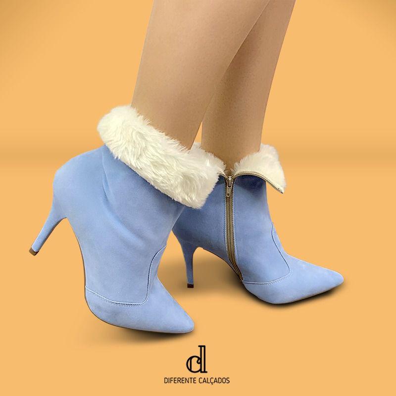 Bota Azul Claro Camurça | D- 25.100-87