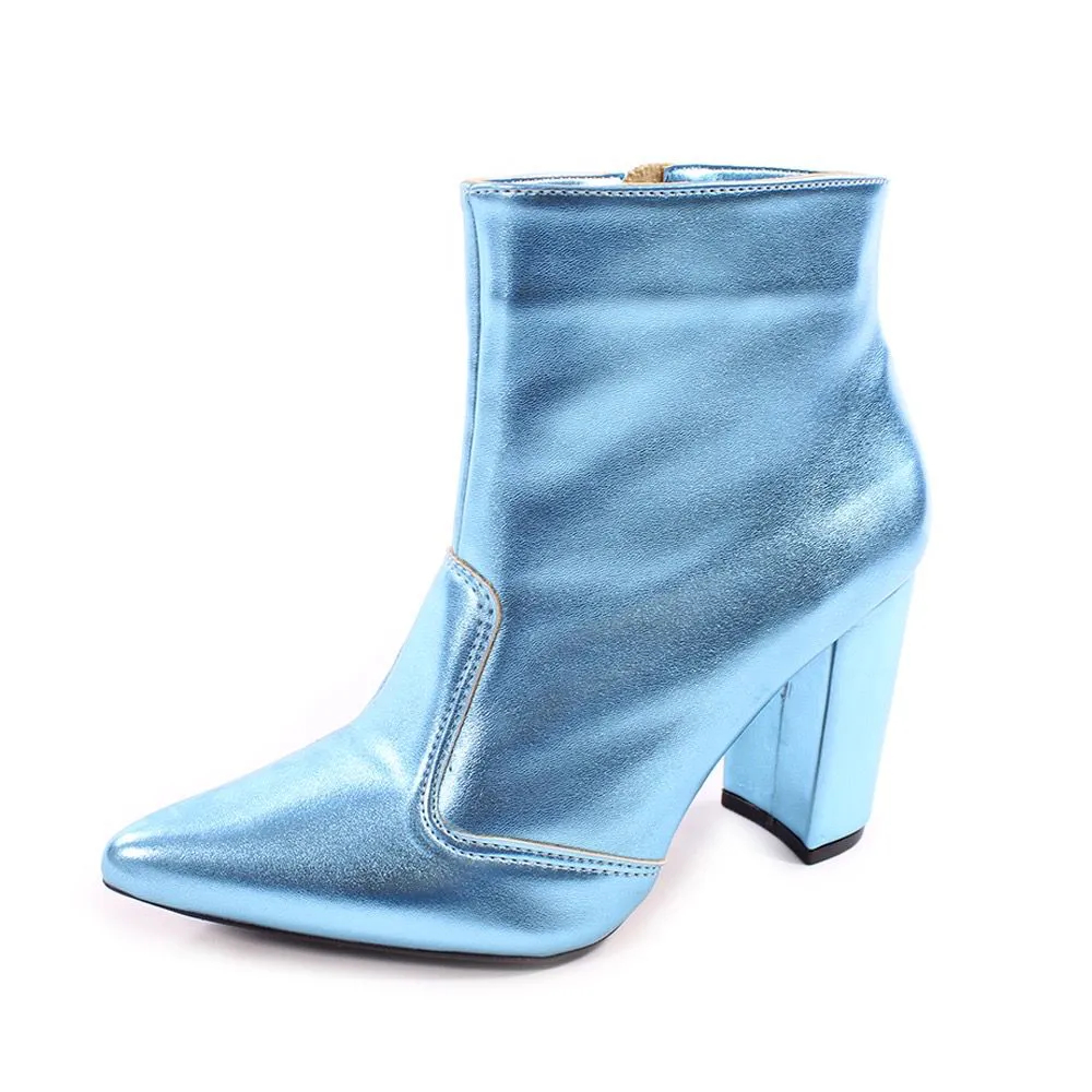 Bota Azul Metalizada | D-100-067
