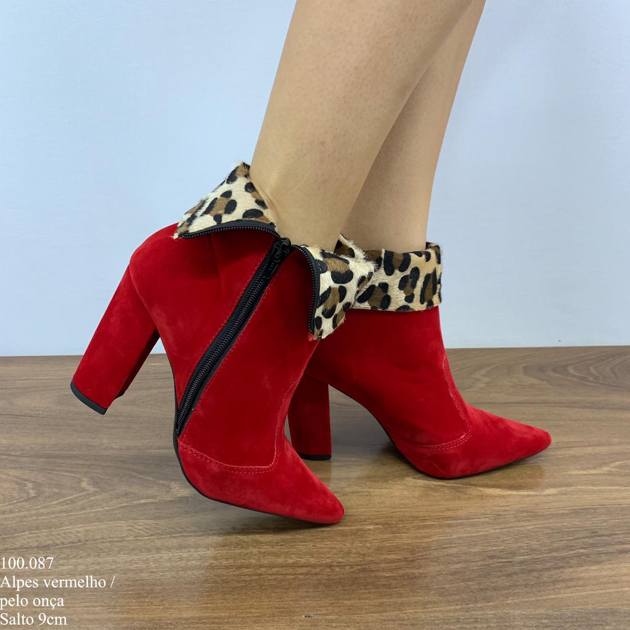 0b4d263ea Bota Vermelha | Bota Cano Curto | Calçados Diferente