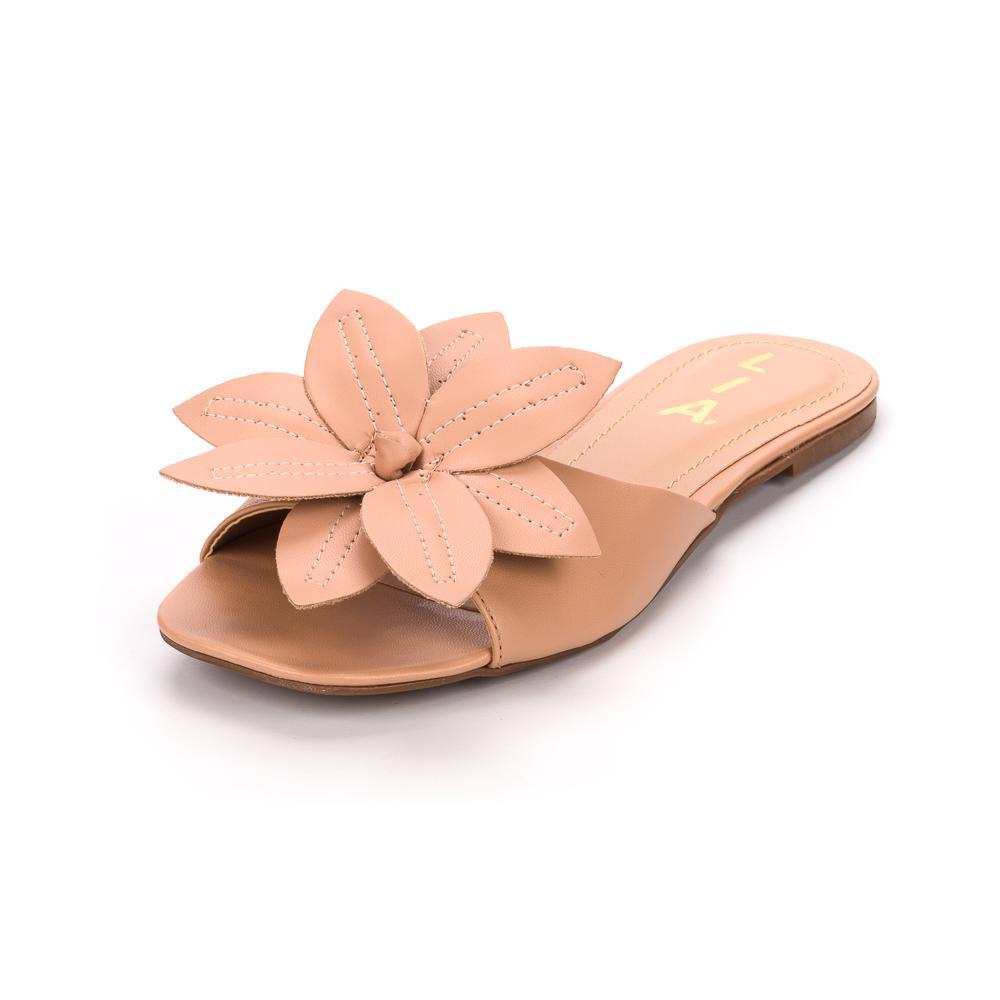 Rasteirinha Nude Floral | D-018-600