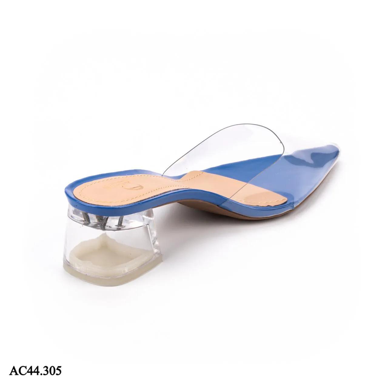 Scarpin Mule Salto Cristal VERNIZ AZUL MARINHO  AC44.305