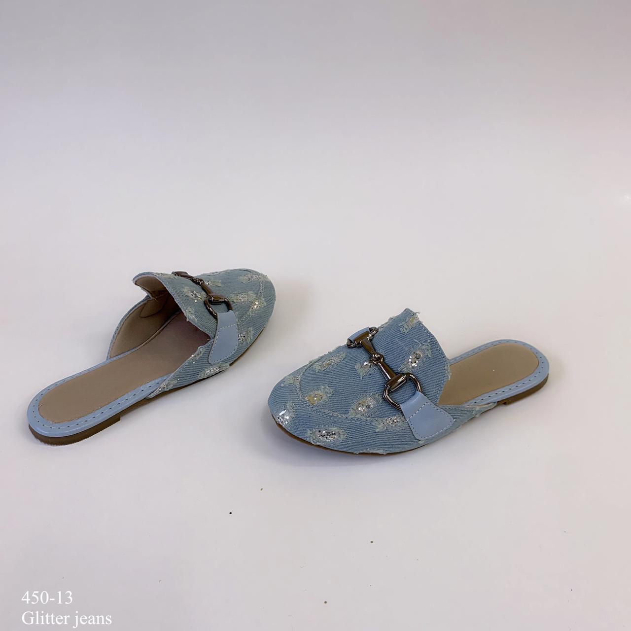 Mule  mamãe & filha Jeans Com Fivela | D-450-13