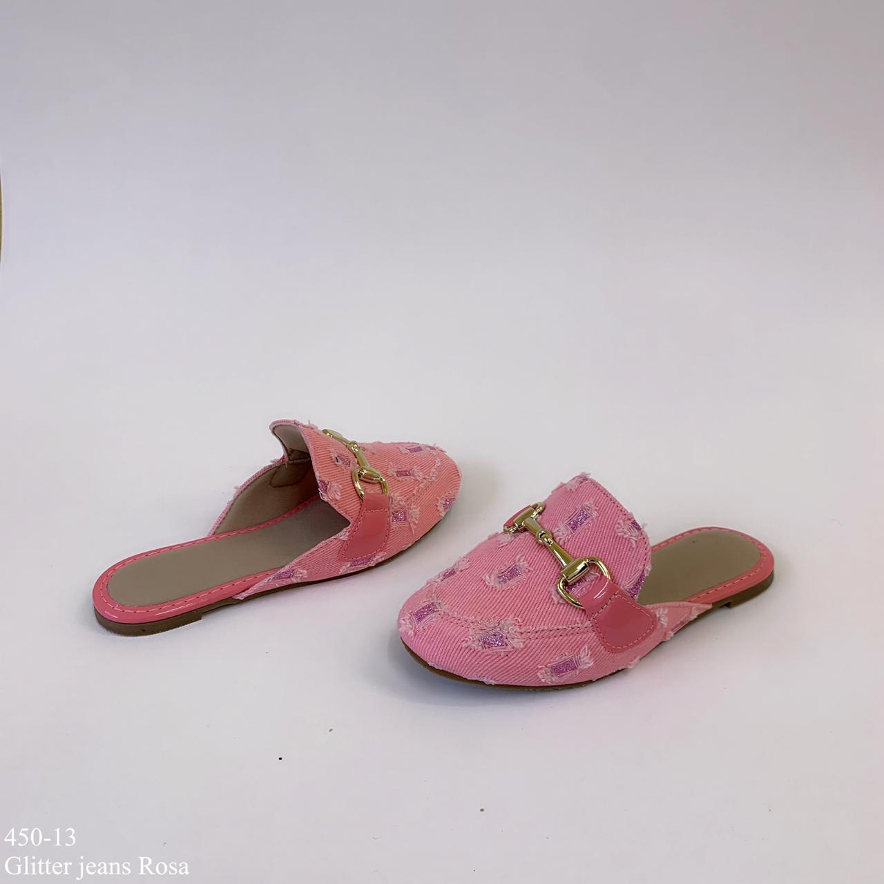 Mule Rosa Glitter Mamãe & Filha | D-450-13