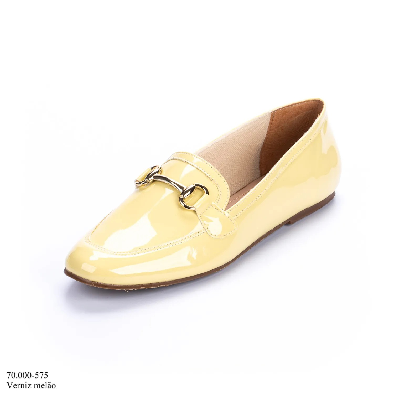 Mocassim Amarelo Verniz | D-70.000-575