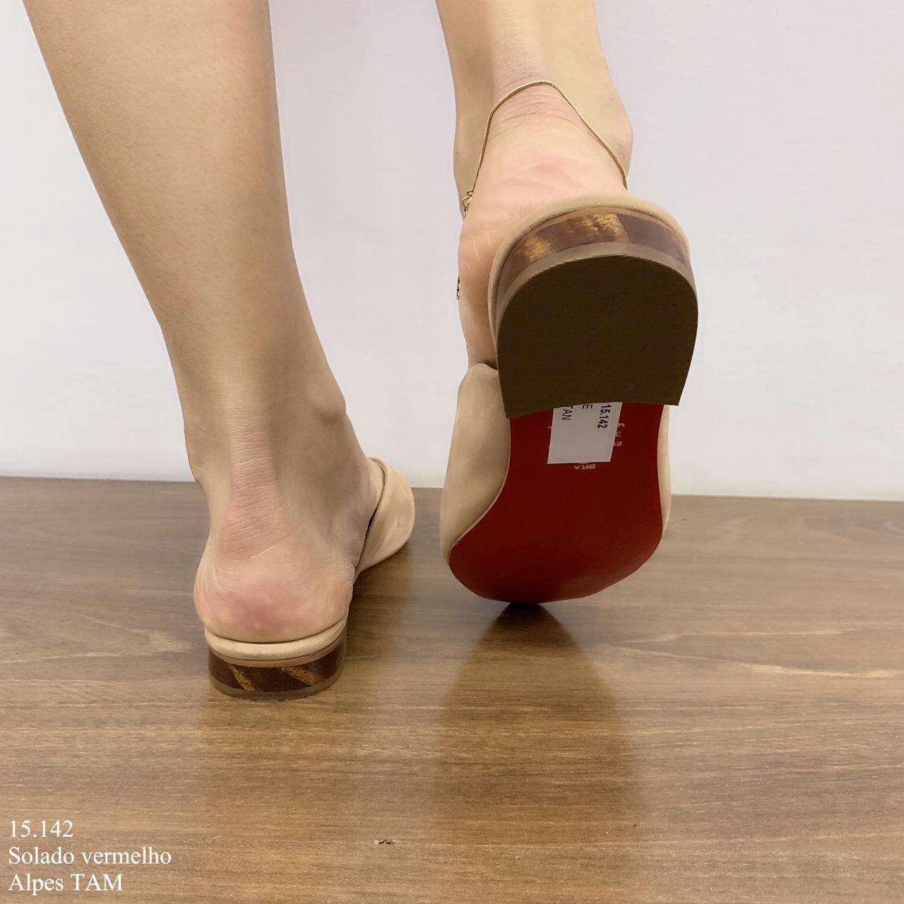 Mule Nude com Sola Vermelho | D-15.142