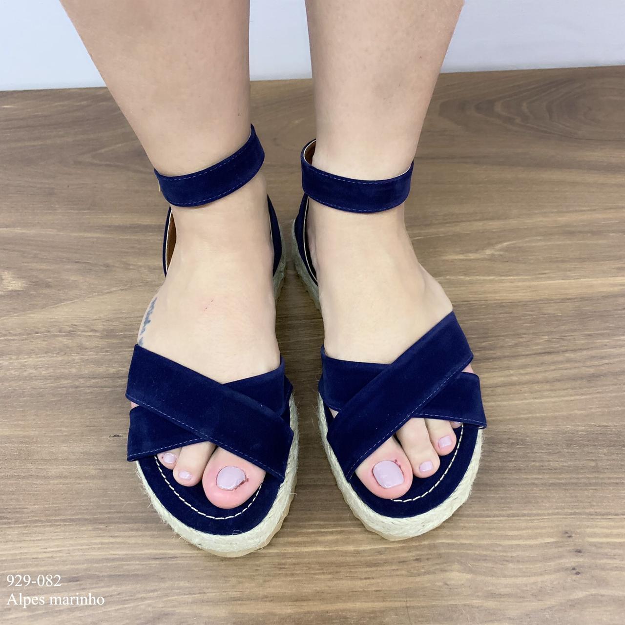 Rasteira Azul Marinho Corda   D-929-082