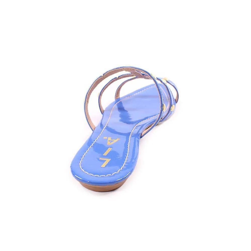 Rasteirinha Azul Tachas | D-327