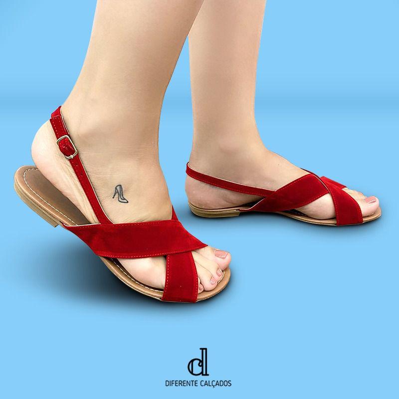 Rasteirinha Feminina Vermelha | D -777-82