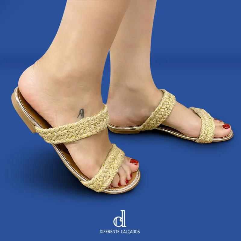 Rasteirinha Ouro Com Corda | D-777-665