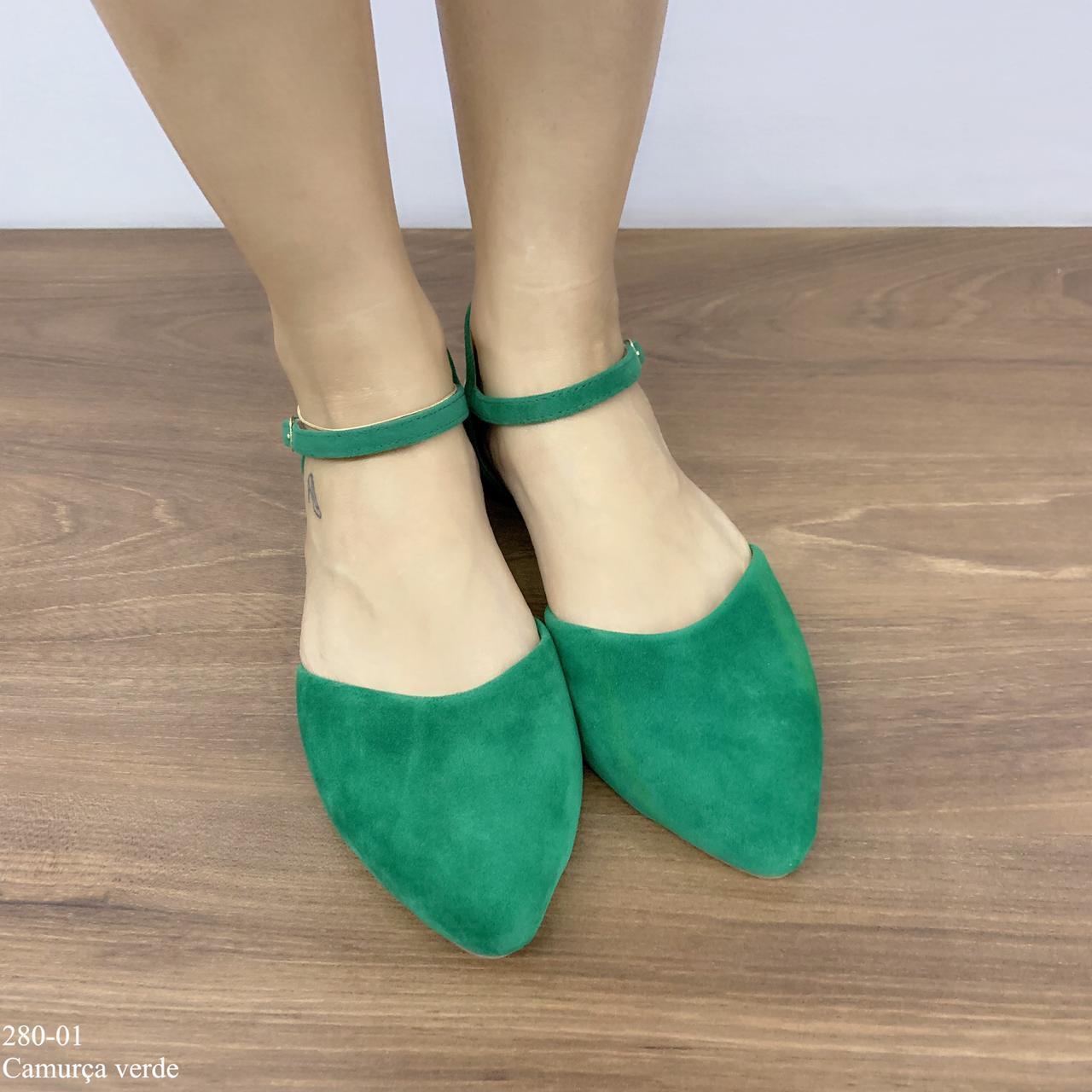 Sapatilha Verde Camurça | D-280-01