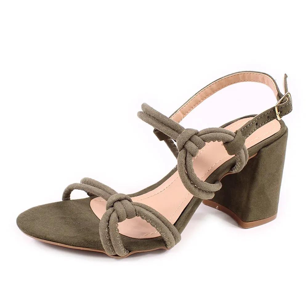 Sandalia 8cm (12.000-466 verde militar)