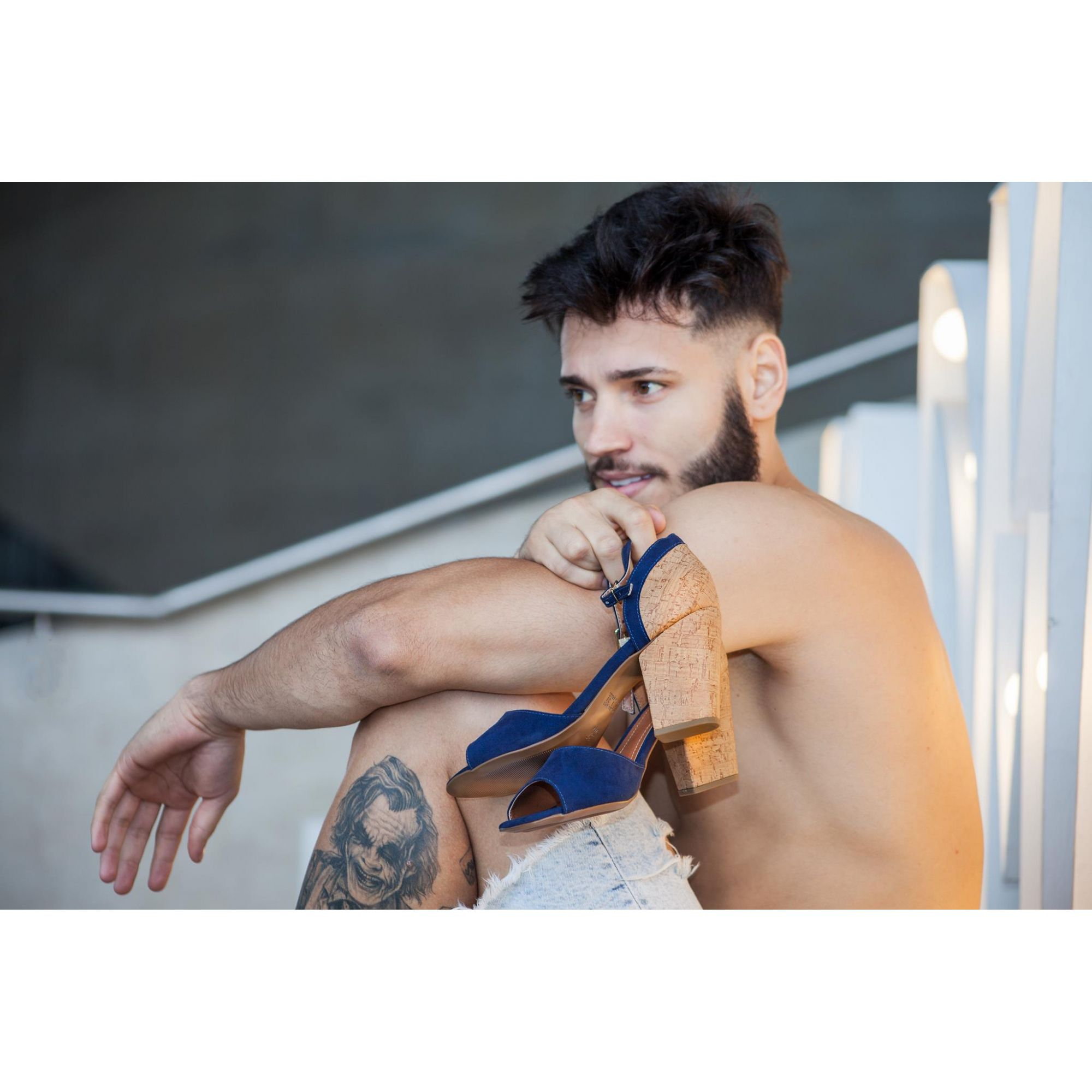 Sandália Jeans Salto Alto | D-2021
