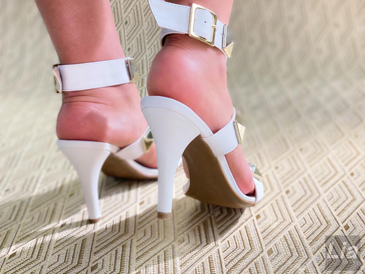 Sandália Gladiadora Branca | D-2021