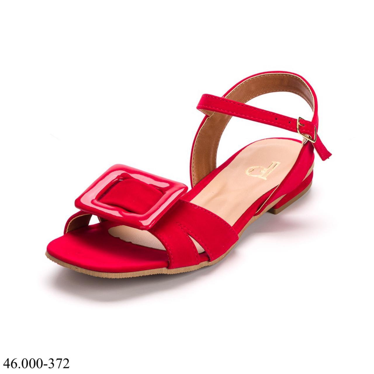 Sandália Vermelha Saltinho | D-46.000-372