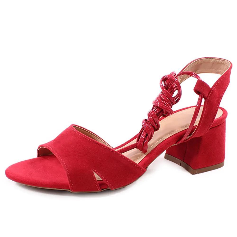 Sandália Amarração Vermelha   D-800-555