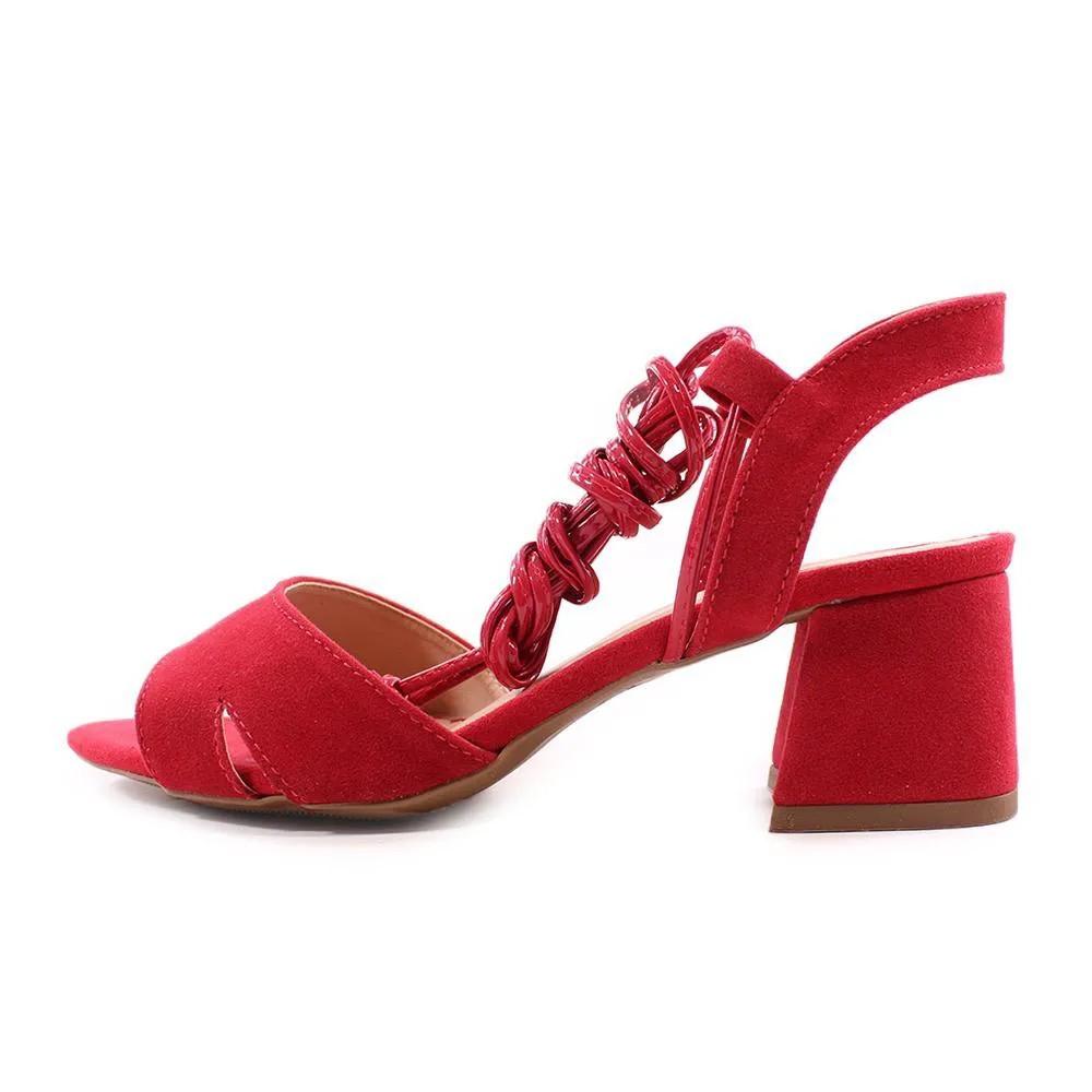 Sandália Vermelha Amarração | D-800-555