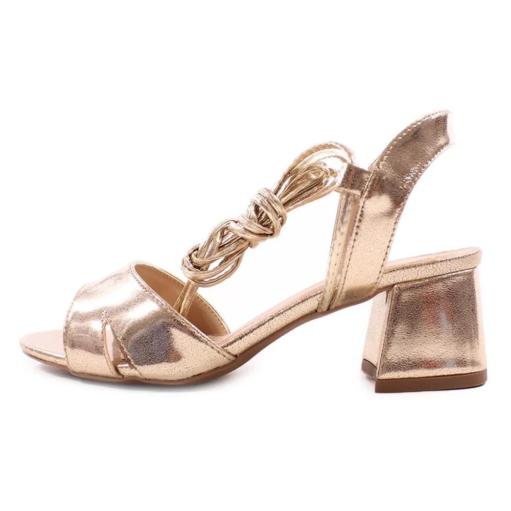 Sandália Amarração Ouro Búzios   D-4155