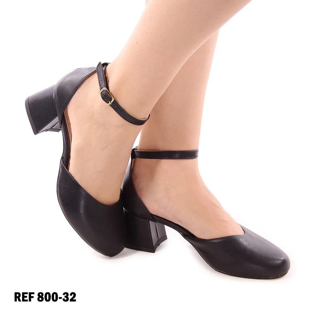 Sapato Boneca Azaléia Preta | D-2021