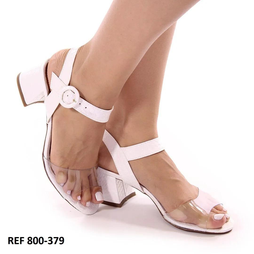 Sandália Branca Antúrio | D- 800-379