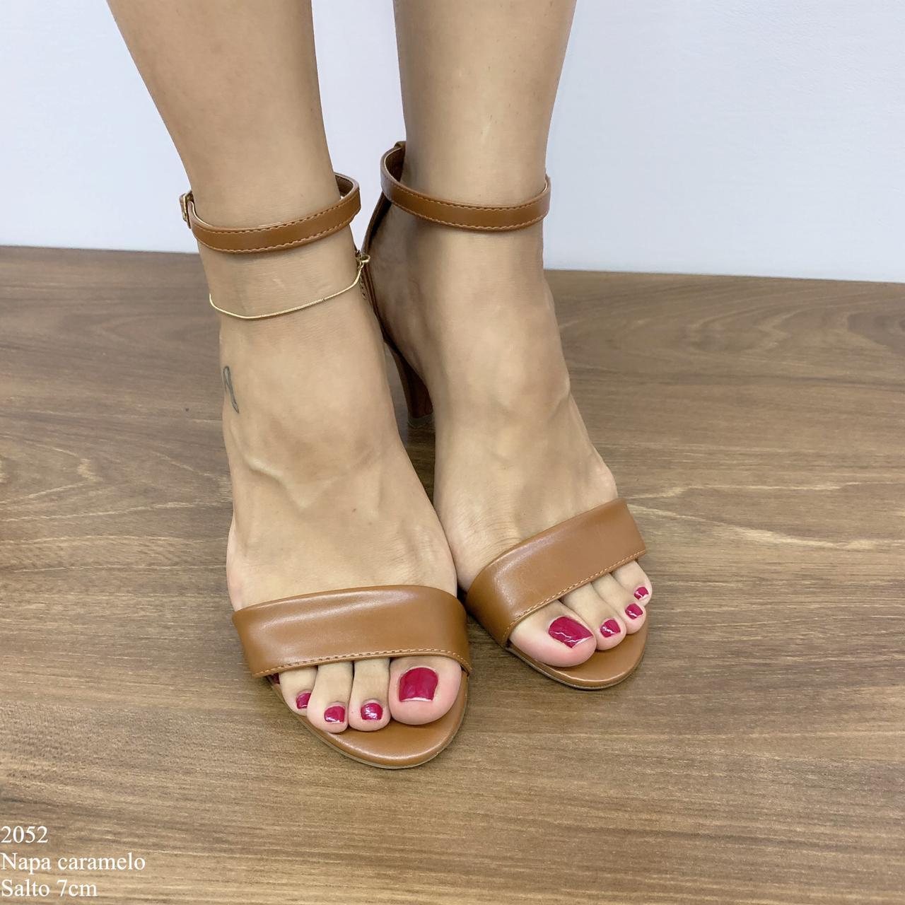Sandália Caramelo de Salto | D-2052