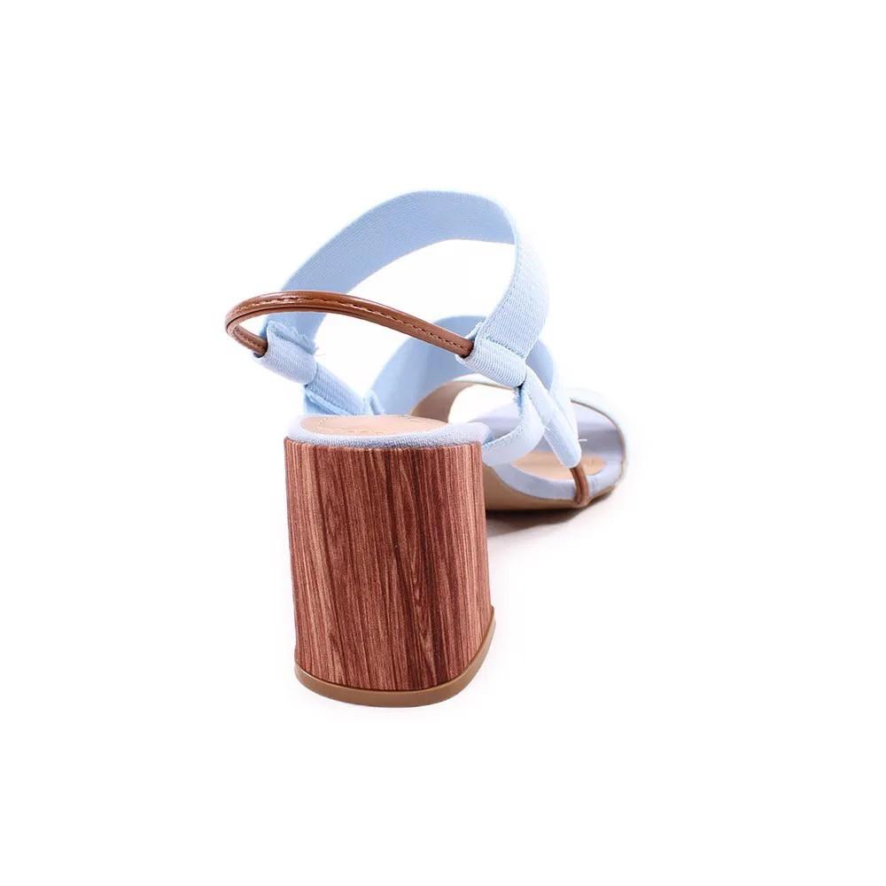 Sandália com Elastico Azul Salto Bloco | D-12.000-326