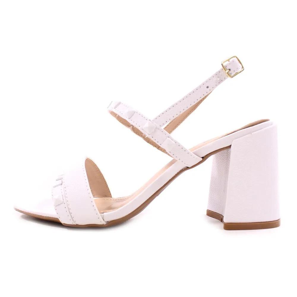 Sandalia couro branco
