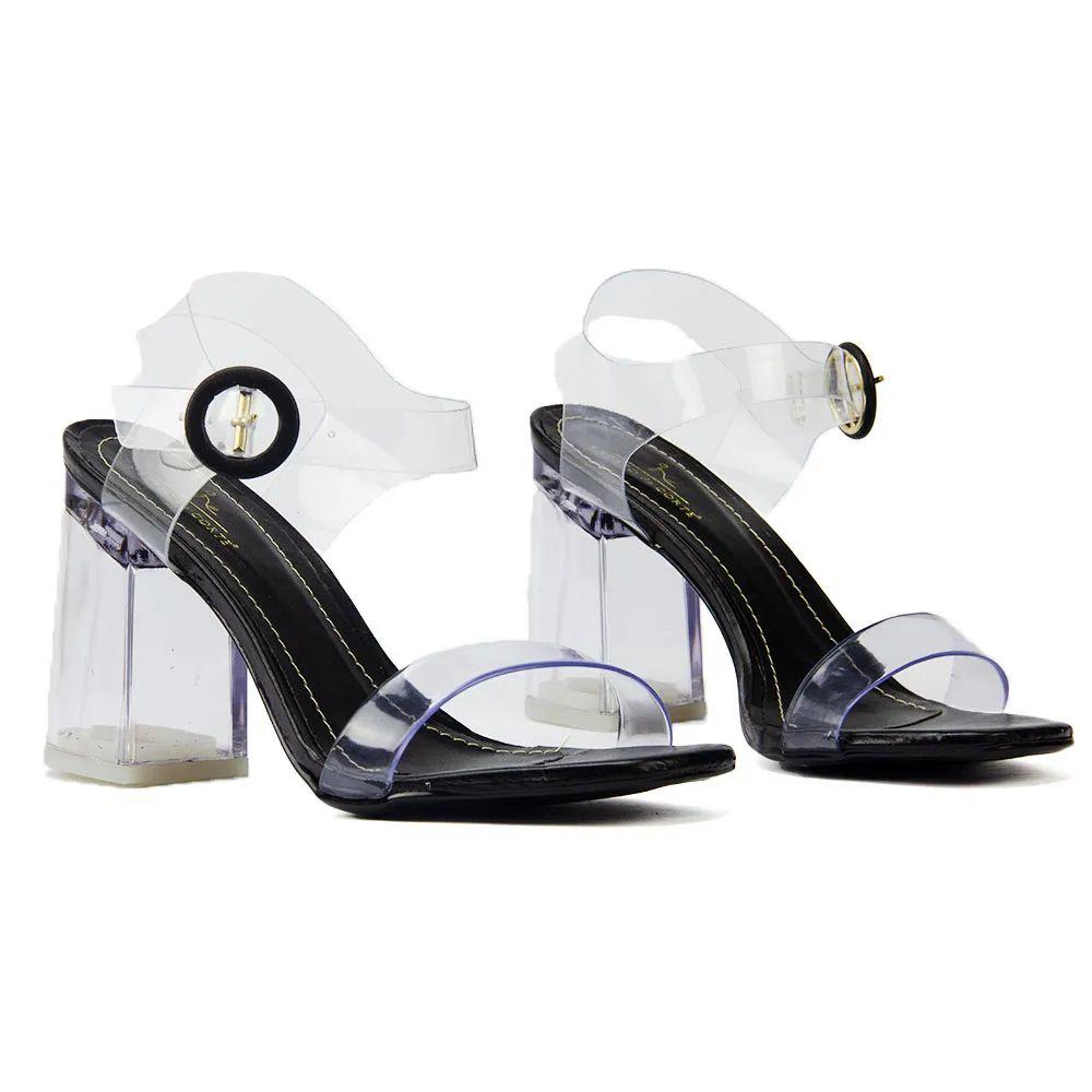 Sandalia (cristal (salto transparente))