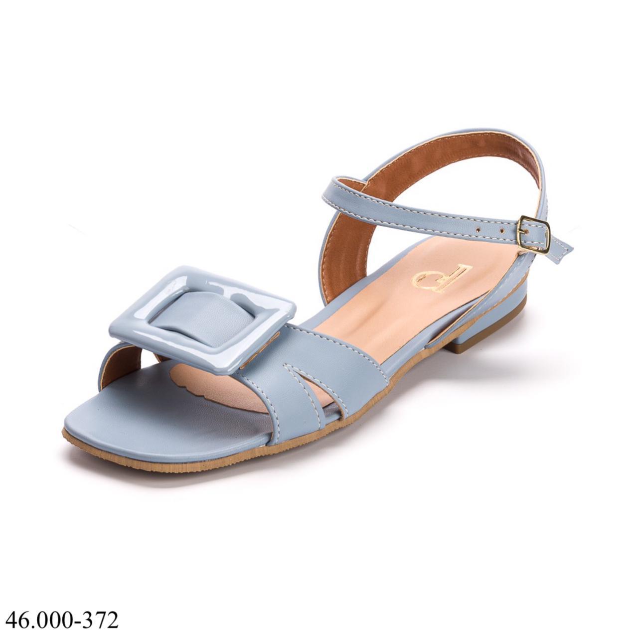 Sandália Azul Salto Baixo | D-46.000-372