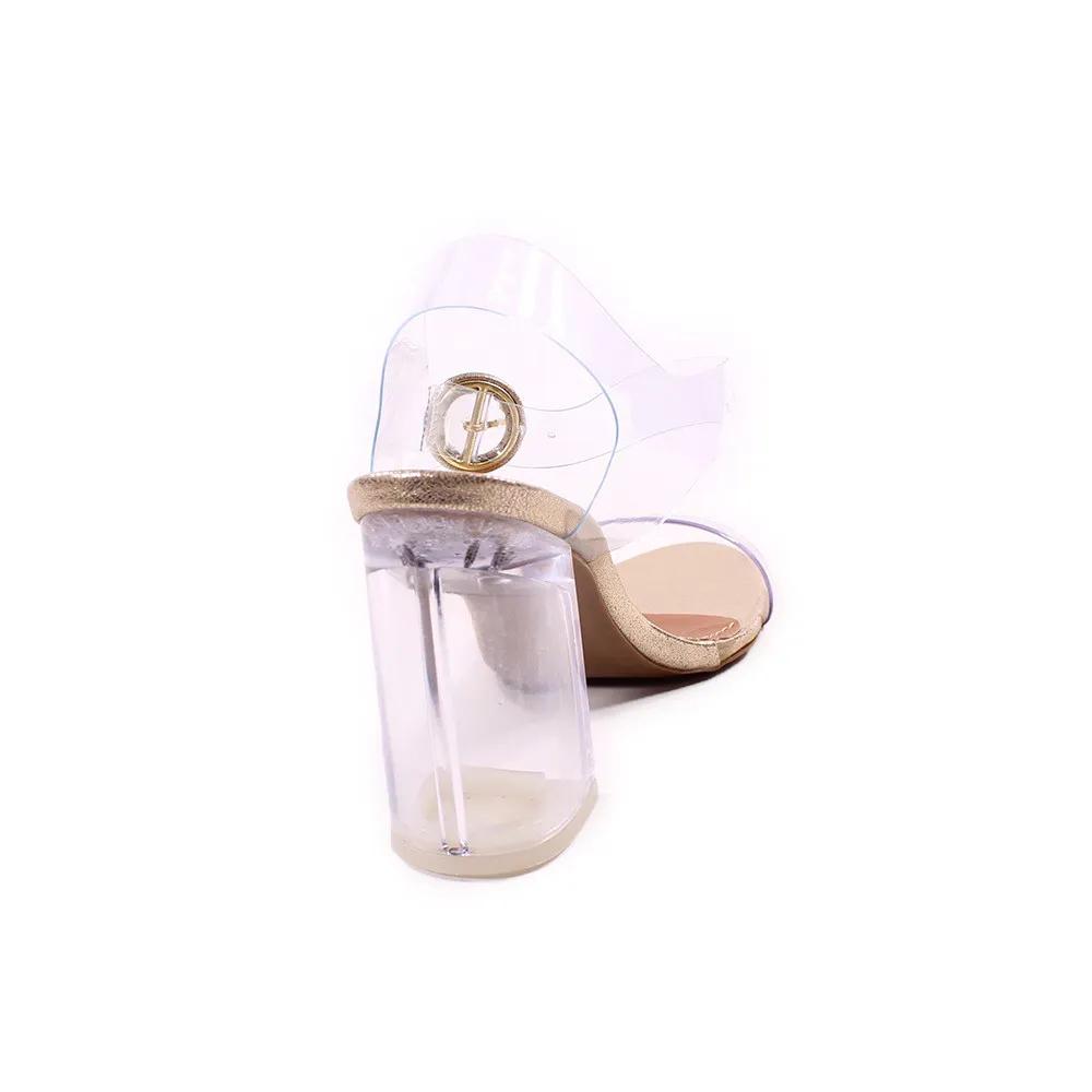 Sandália Ouro Salto Cristal | 71.000-337