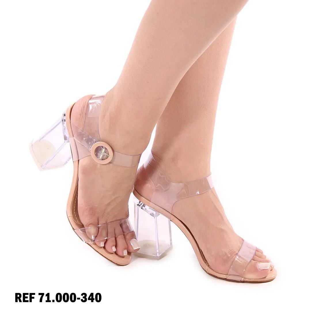 Sandália Nude Salto Cristal | D-71.000-340