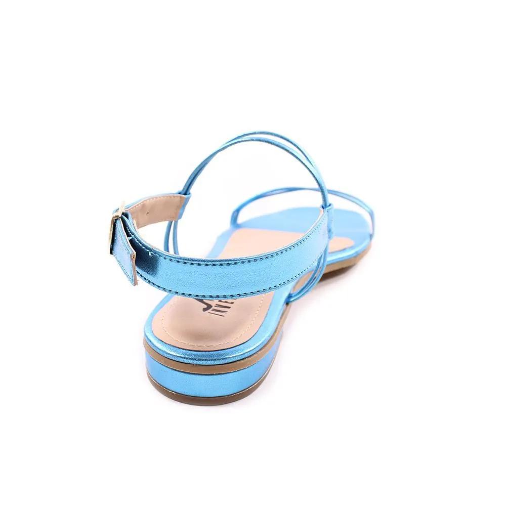 Sandália Rasteira Azul Metalizado | D-46.000-409