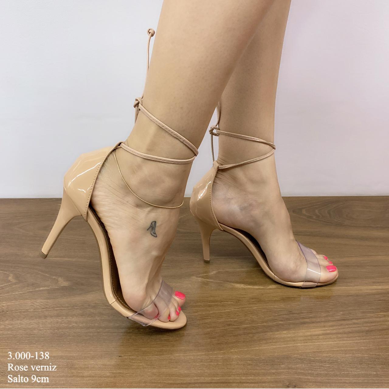 sandália Rose Verniz com Amarração | D-3.000-138