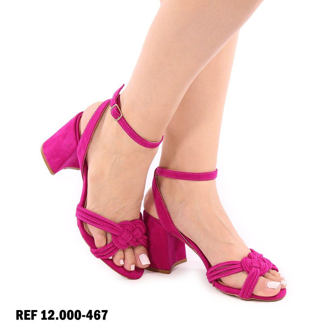 Sandália Pink Salto Bloco | D-12.000-467