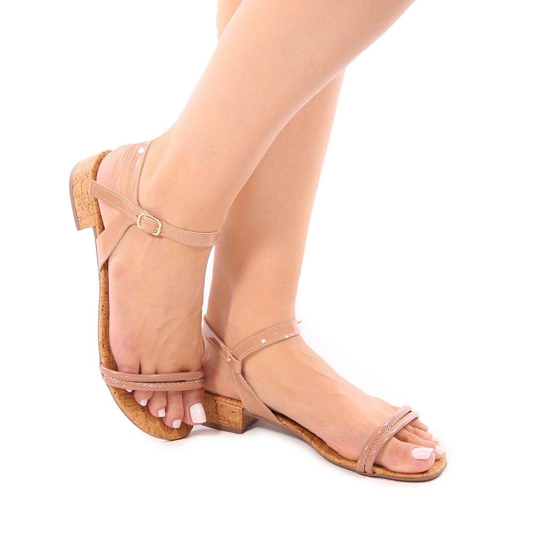 Sandália Salto Baixo Rose | D-2021