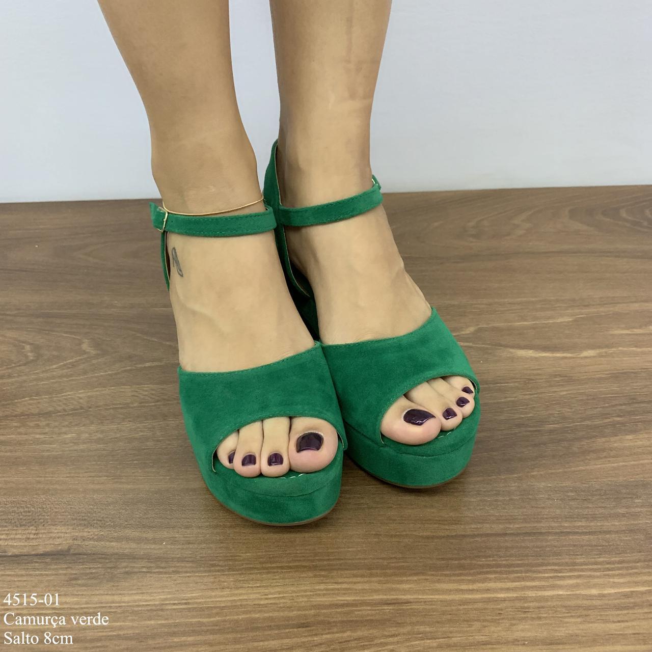 Sandália Verde Camurça | D- 4515-02