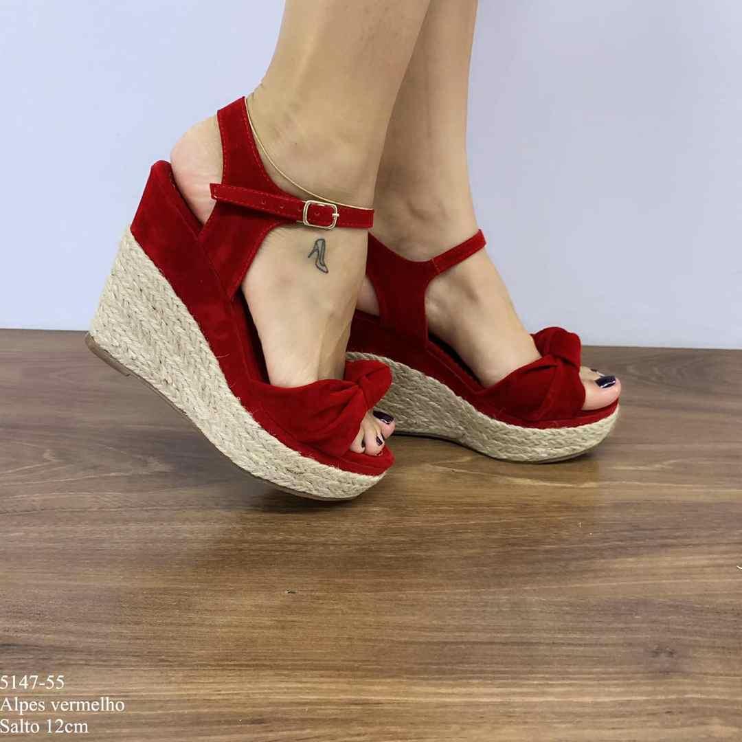 Sandália Vermelha Alpes | D-5147-55