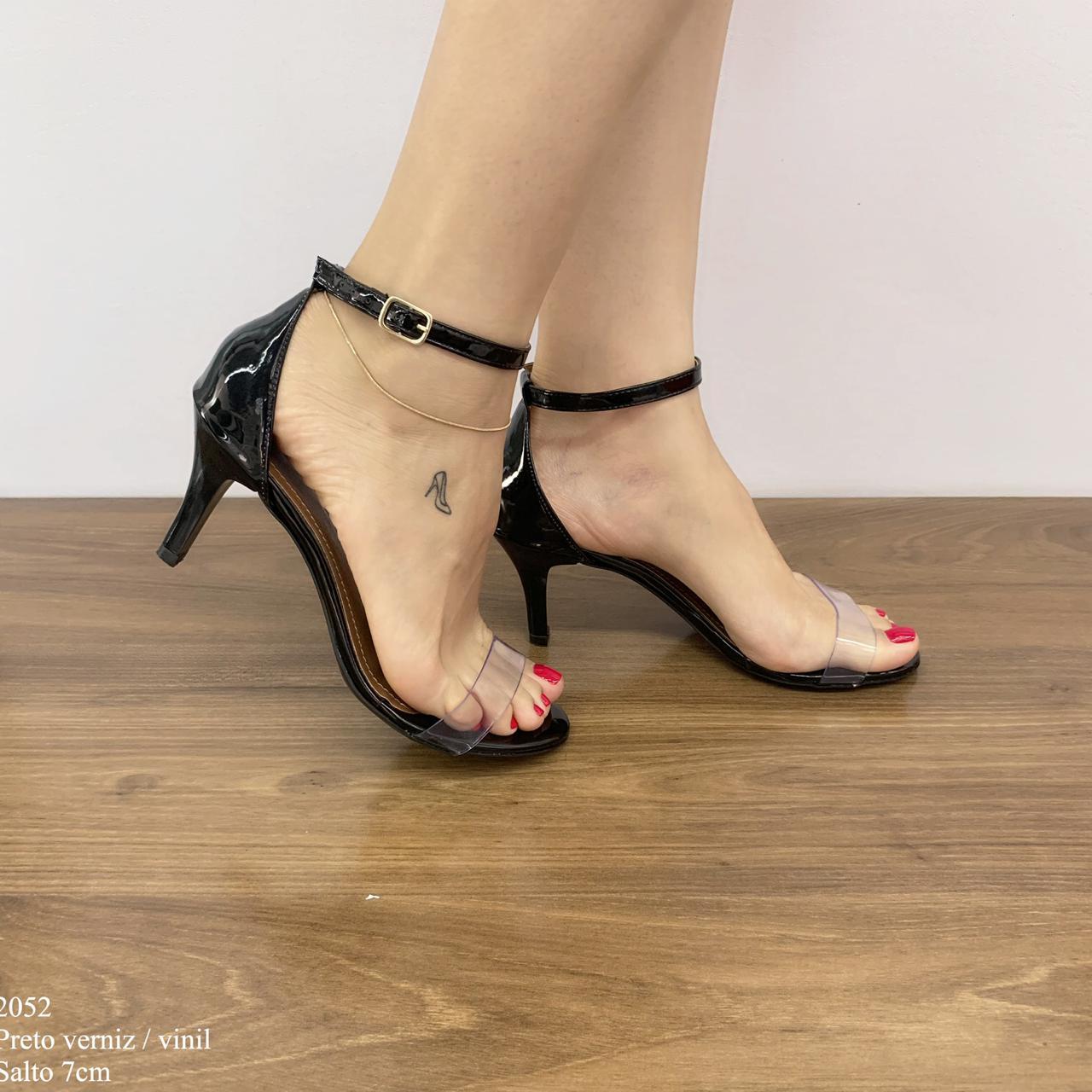 Sandália Transparente Preta   D-2052