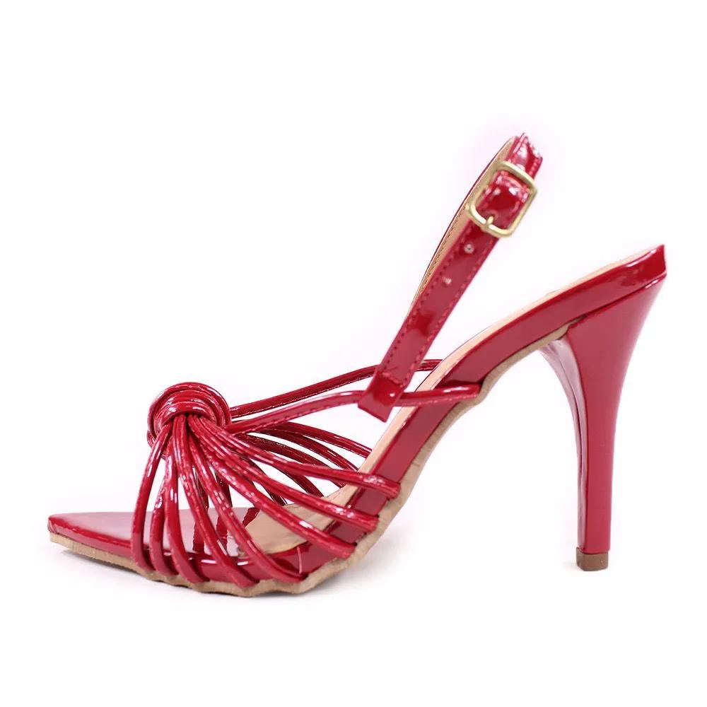 Sandália Vermelha Nó | D-2154
