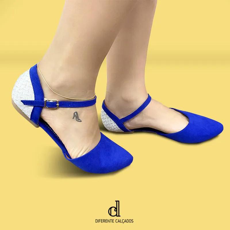 Sapatilha Azul Suede | D-280-01