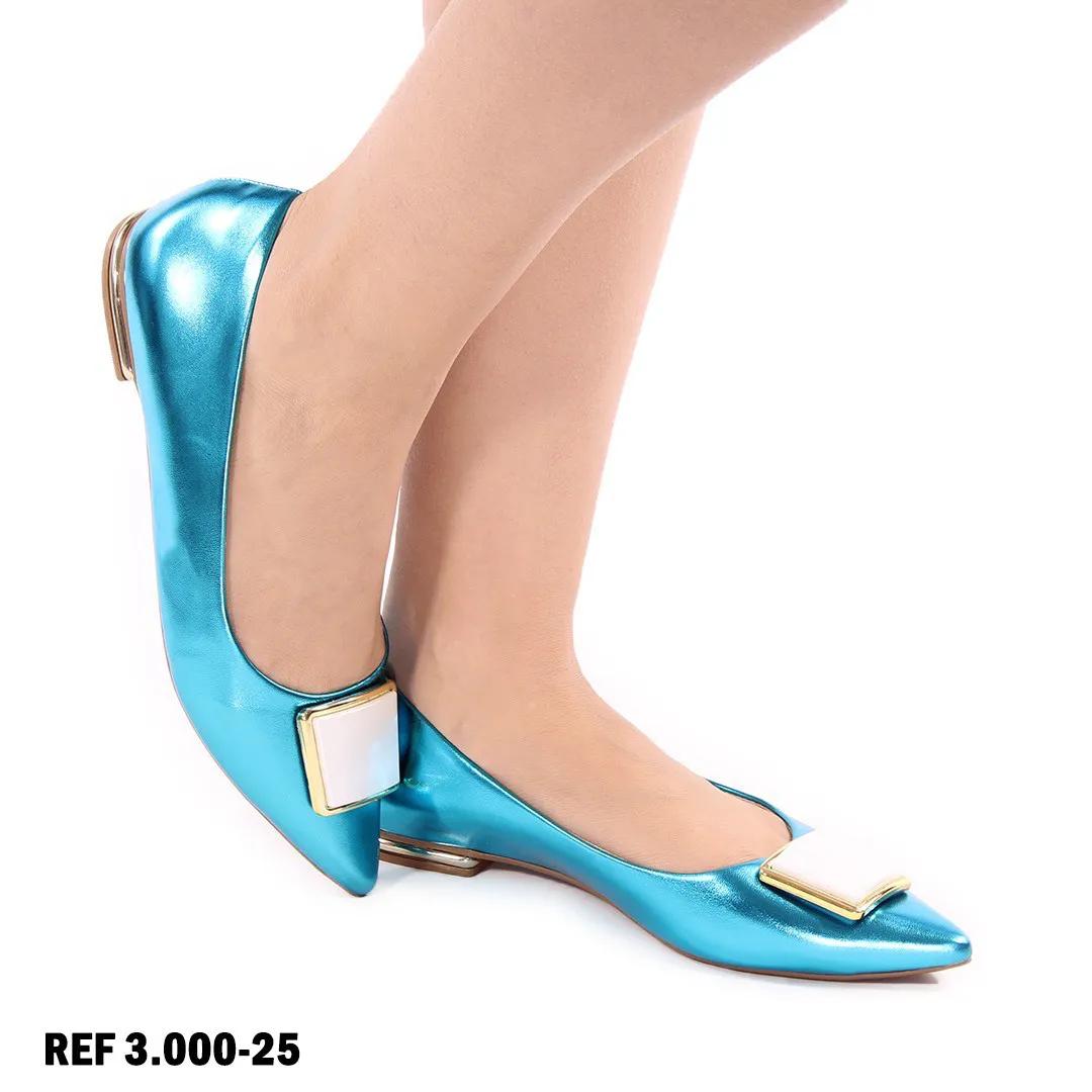 Sapatilha Metalizada Azul | D-3.000-25