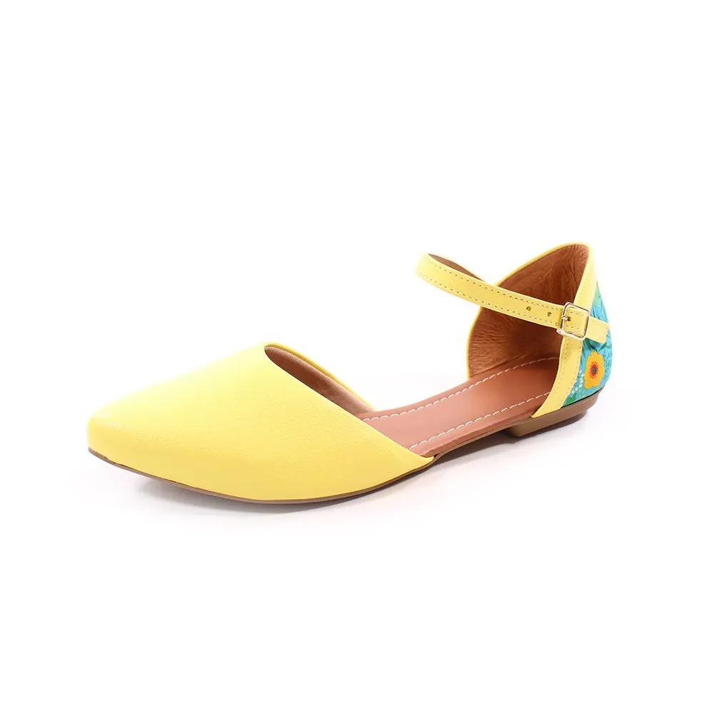 Sapatilhja Salomé amarelo/floral | D-280
