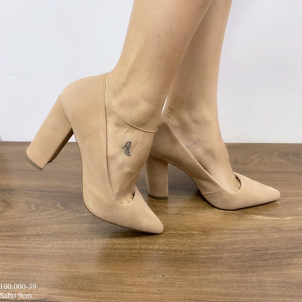 Sapato Scarpin Areia | D-100.000-39