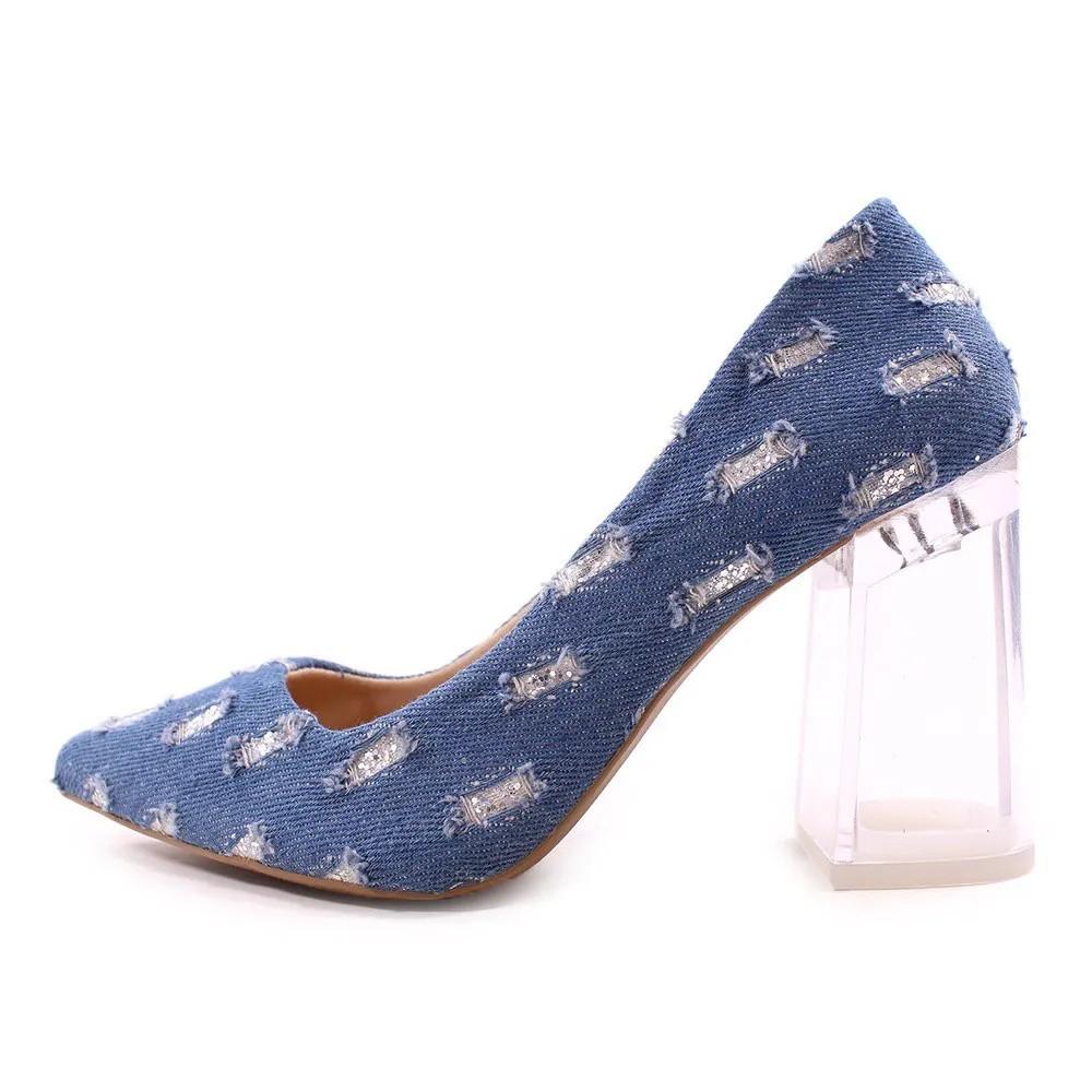 Sapato Scarpin tecido jeans | D- 100.000-39