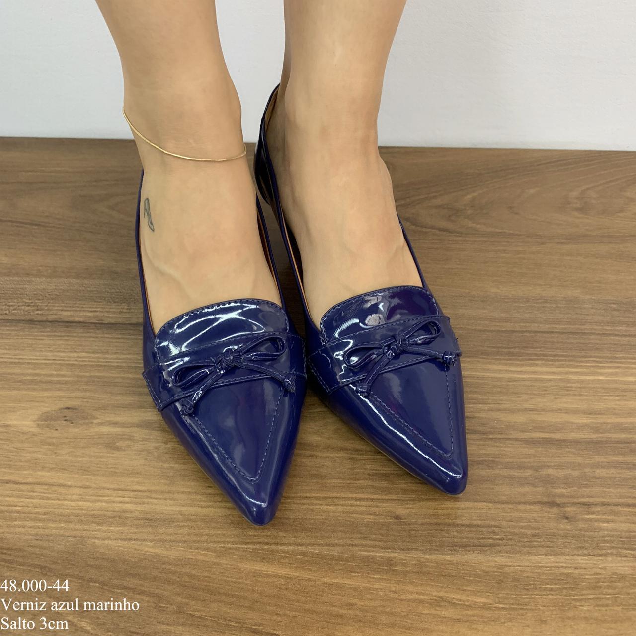 Sapato Social Scarpin Azul Marinho   D-48.000-44