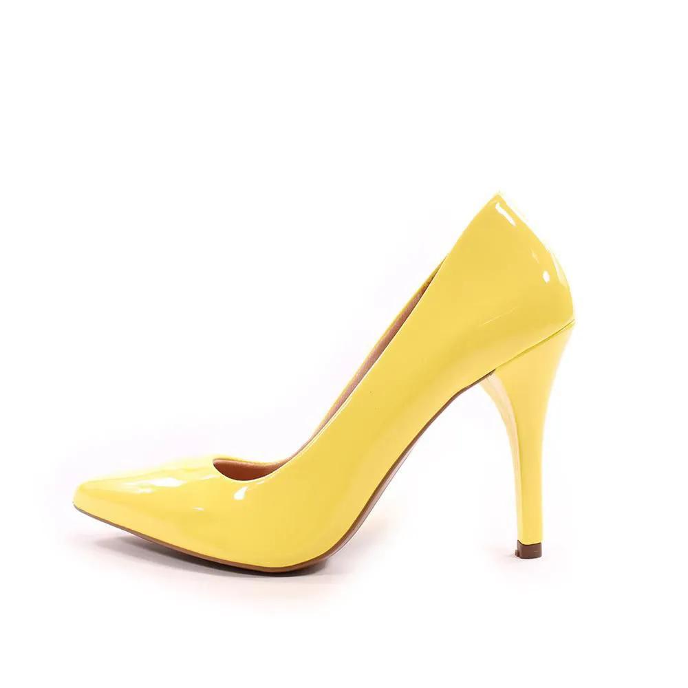 Scarpin Amarelo Salto Alto | D-25.000-39