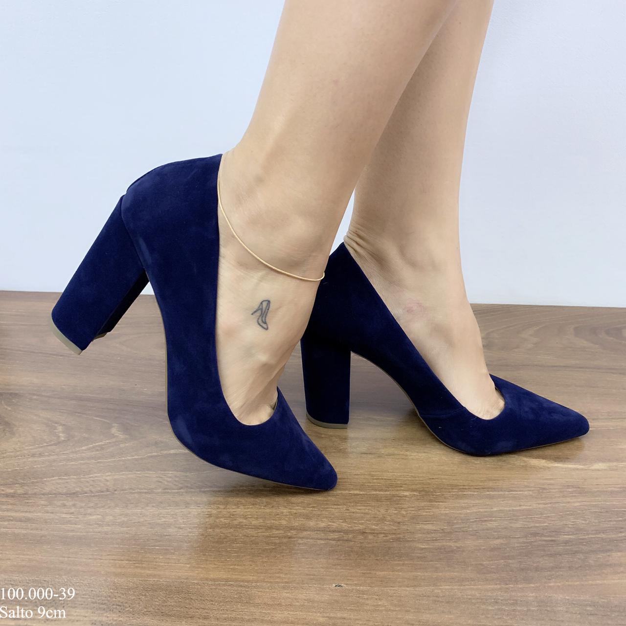 Sapato Scarpin Azul Marinho | D- 100.000-39