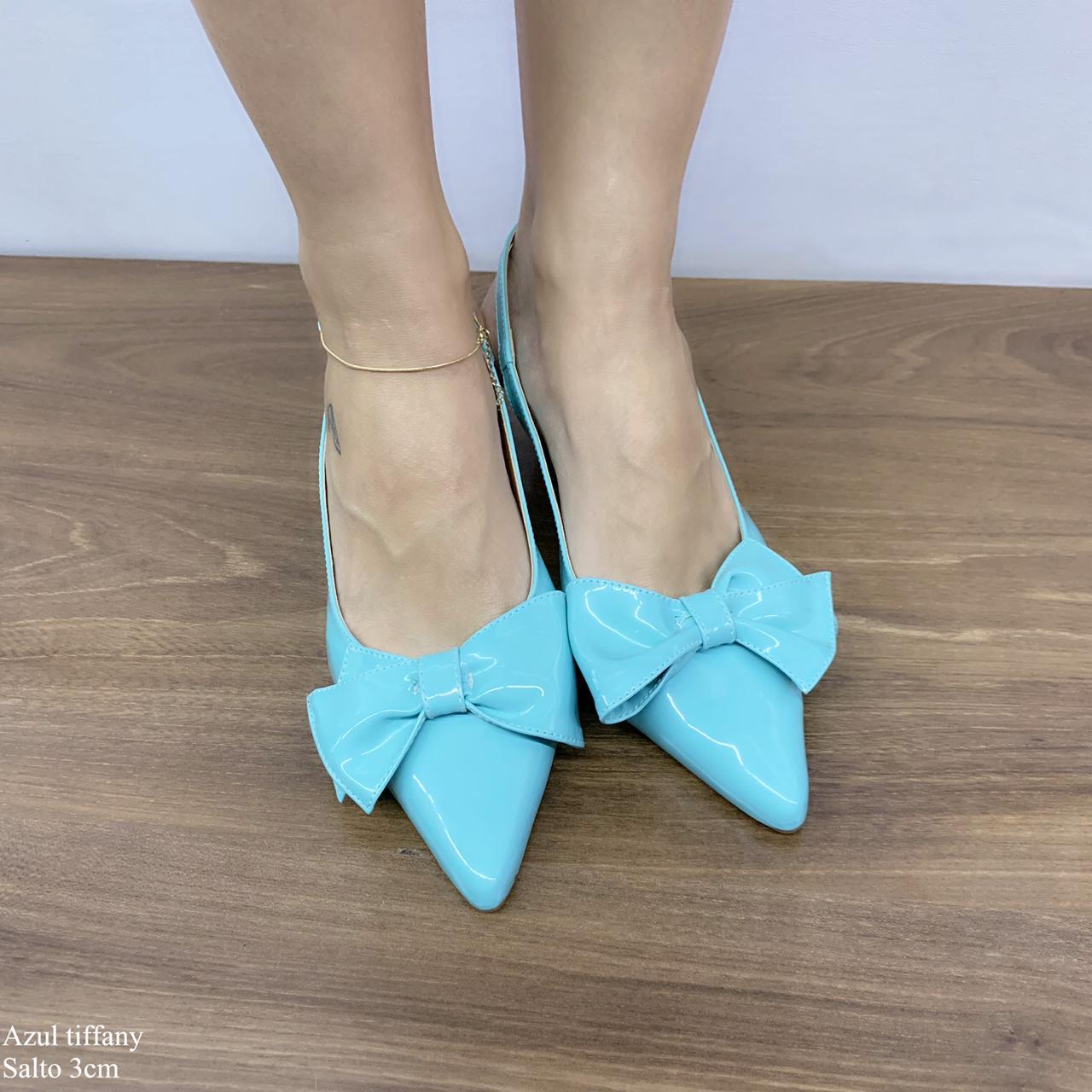 Scarpin Chanel Azul Tiffany